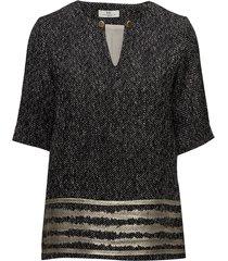 day taaza blouses short-sleeved svart day birger et mikkelsen