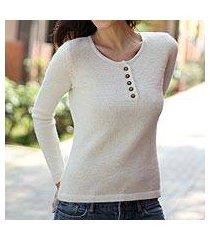 100% alpaca sweater, 'dreamer' (peru)
