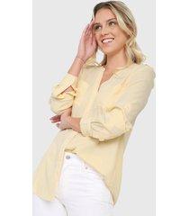 blusa amarillo tommy hilfiger