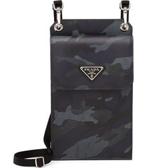 prada camouflage saffiano cellphone case - black