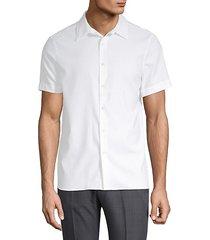 point collar button-down shirt