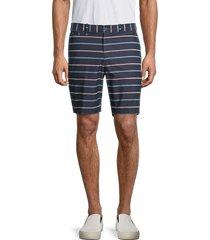 original penguin men's striped cotton shorts - dark sapphire - size 36