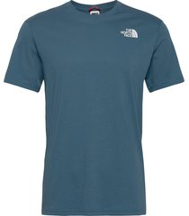 m s/s red box tee t-shirts short-sleeved blå the north face