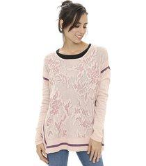 sweater rosa ted bodin jackard