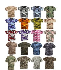 camouflage tactical military short sleeve army camo airsoft paintball t-shirt