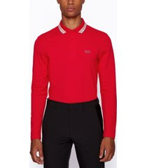 boss men's plisy regular-fit polo