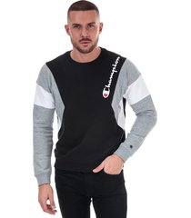 mens colour block sweatshirt