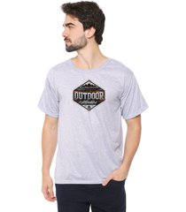 camiseta eco canyon outdoor cinza - cinza - masculino - dafiti