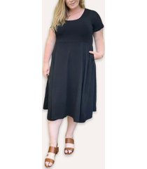 ori women's plus size signature french terry midi dress