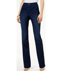 style & co petite tummy-control straight-leg jeans, petite & petite short, created for macy's