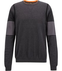 boss men's regular/classic-fit colorblocked sweater