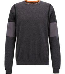 boss men's regular/classic-fit colorblocked sweater