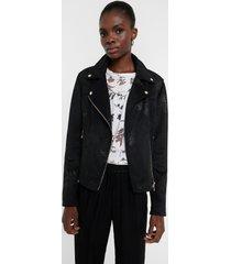 biker jacket floral - black - 46