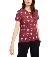 juicy couture allover lip-print t-shirt