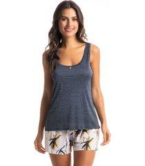 pijama curto regata estampado aline