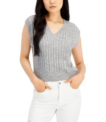 sugar moon juniors' cable-knit sweater vest