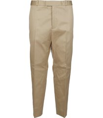 oamc beige cotton trousers