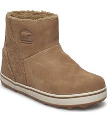 glacy short shoes boots ankle boots ankle boots flat heel brun sorel