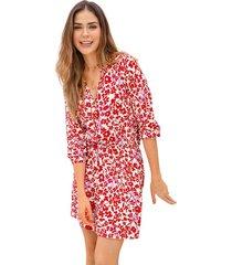 exterior vestido rojo leonisa f5968