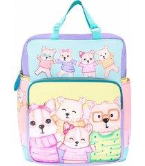 mochila maternal con cambiador celeste simones mami viajero cuentitos