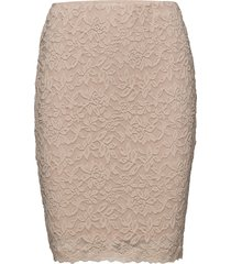 skirt kort kjol beige rosemunde