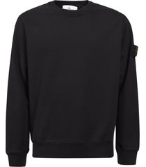 stone island sleeve logo patch sweatshirt