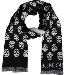black wool scarf