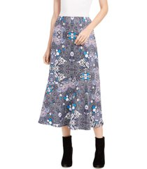 ny collection petite diagonal-seamed skirt