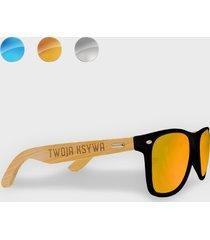 okulary przeciwsłoneczne z oprawkami z twoją ksywą