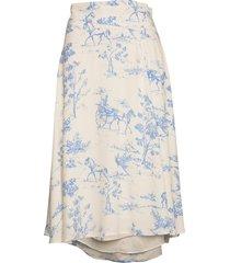 nuarizilla skirt knälång kjol vit nümph