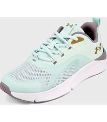 tenis lifestyle verde menta-blanco under armour ua w charged rc