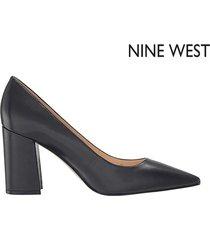 zapato de tacón nine west cara - negro