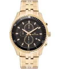 relógio masculino technos js15fe/4p 48mm pulseria aço