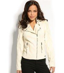 engracia jacket - leerlook - guess - jassen - ecru