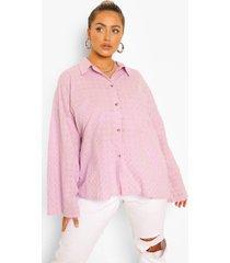 plus broderie anglaise bralette en blouse set, lilac