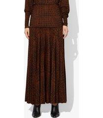 proenza schouler croc print matte jersey skirt black/brown crocodile s