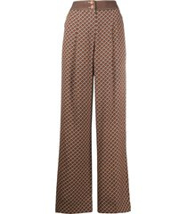 temperley london cecilia wide leg trousers - brown