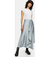 *grey frill midi skirt by topshop boutique - grey