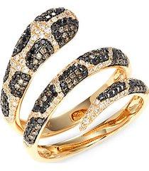 14k yellow gold & diamond snake wrap ring