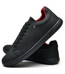tênis sapatênis casual fashion dubuy 940el preto