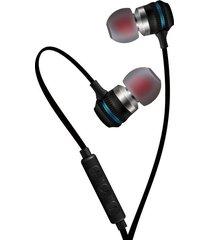 audífonos magnético estéreo deportivos, kdk-205 auriculares intrauditivos de 3.5 mm profesional en el oído de metal audífonos (azul)