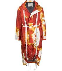 a-cold-wall* volcanic padded parka coat - orange