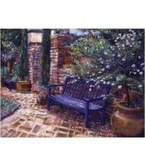 "david lloyd glover a shady resting place canvas art - 15"" x 20"""