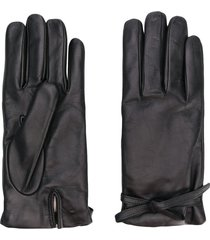 l'autre chose wool lined gloves - black