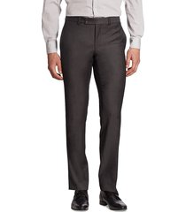 saks fifth avenue men's slim-fit basic ford wool pants - charcoal - size 30 r