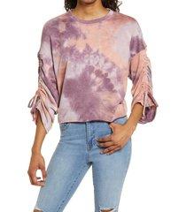 women's la la land creative co tie dye sweatshirt, size large - purple