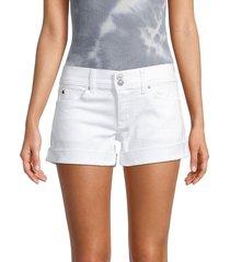 hudson women's ruby shorts - white - size 30 (8-10)