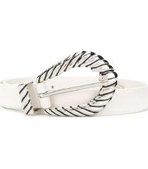 alberta ferretti twisted buckle belt - white