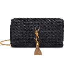 'kate 99' tassel detail braided raffia crossbody bag