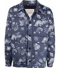a kind of guise oulu paisley-print padded jacket - blue